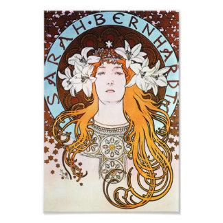 Alphonse Mucha Sarah Bernhardt Vintage Art Nouveau Photographic Print