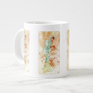 Alphonse Mucha Season Art Jumbo Mug