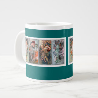 Alphonse Mucha Seasons Art Jumbo Mug