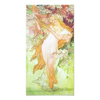 Alphonse Mucha Spring Floral Vintage Art Nouveau Photo