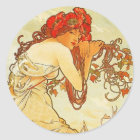 Alphonse Mucha Summer Stickers