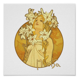 Alphonse Mucha - The Flowers Poster