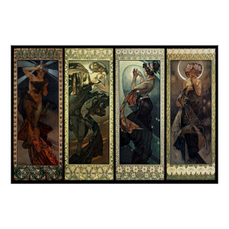 Alphonse Mucha The Moon And The Stars Poster