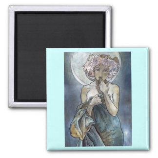 Alphonse Mucha ~ The Moon Magnet