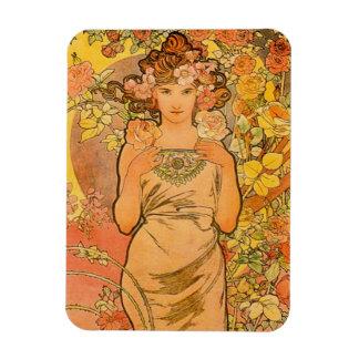 Alphonse Mucha The Rose Magnet