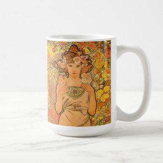 Alphonse Mucha The Rose Mug