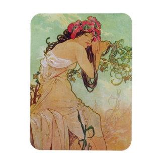 Alphonse Mucha Vintage Art Magnet