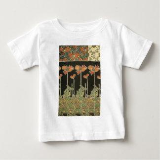 Alphonse Mucha Vintage Popular Art Nouveau Poppies Baby T-Shirt