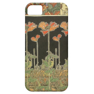 Alphonse Mucha Vintage Popular Art Nouveau Poppies iPhone 5 Case