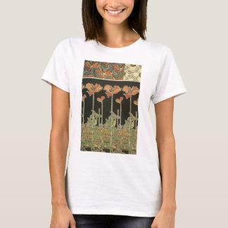 Alphonse Mucha Vintage Popular Art Nouveau Poppies T-Shirt