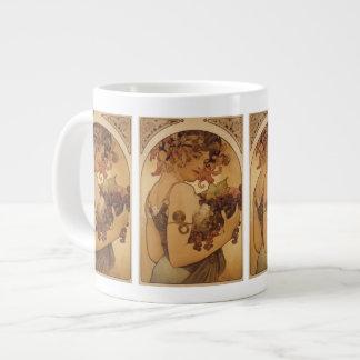 Alphonse Mucha Woman Jumbo Mug