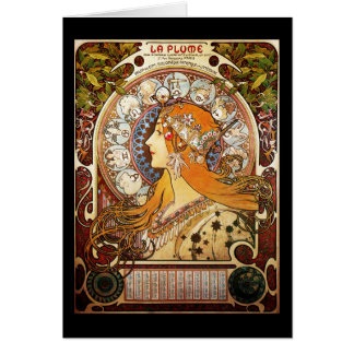 Alphonse Mucha Zodiac Card