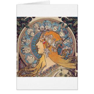 """Alphonse Mucha, """"Zodiac"""" Card"""