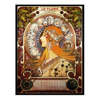 Alphonse Mucha Zodiac Postcard