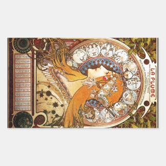 Alphonse Mucha Zodiac Sticker
