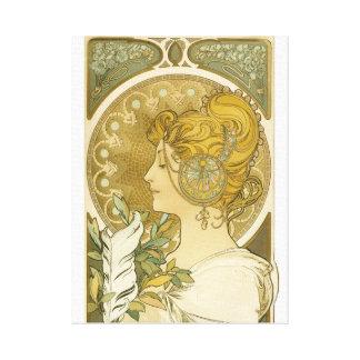 Alphonse Mucha's La Plume Canvas Print