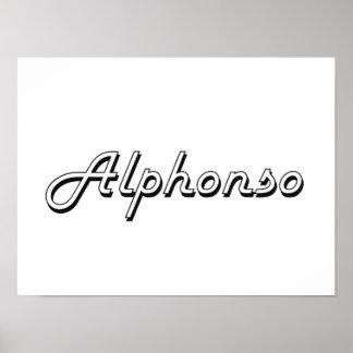 Alphonso Classic Retro Name Design Poster