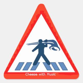 Alphorn Kreuzung (Alphorn Crossing) Sticker