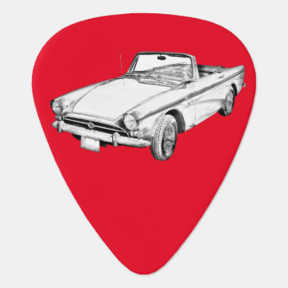 Alpine 5 Sports Car Illustration Guitar Pick