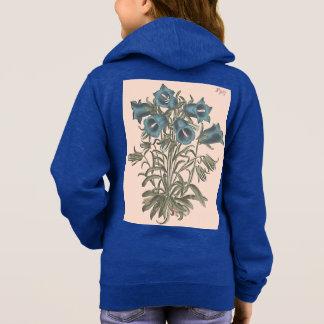 Alpine Bell Flower Botanical Illustration Hoodie