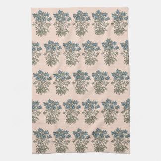 Alpine Bell Flower Botanical Illustration Kitchen Towel