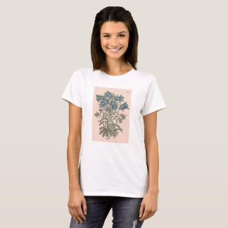 Alpine Bell Flower Botanical Illustration T-Shirt