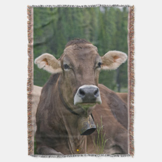 Alpine Cow Throw Blanket