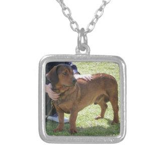 Alpine Dachsbracke Dog Silver Plated Necklace