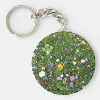 Alpine Flowers Keychain