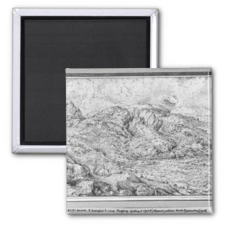 Alpine landscape, 1553 square magnet
