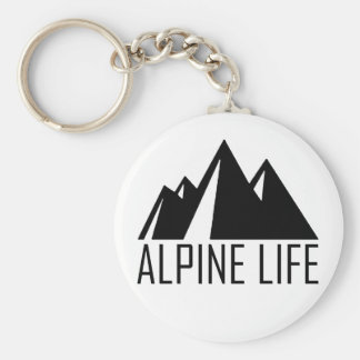 Alpine Life Basic Round Button Keychain