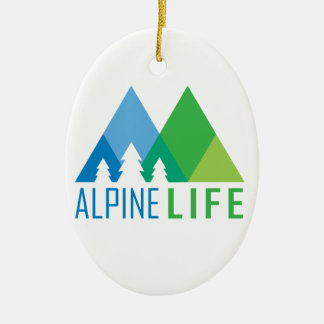 Alpine Life Ceramic Ornament