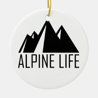 Alpine Life Ceramic Ornament