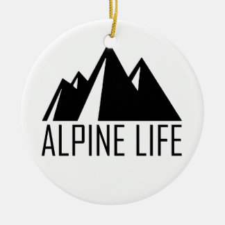 Alpine Life Round Ceramic Ornament