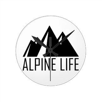Alpine Life Round Clock