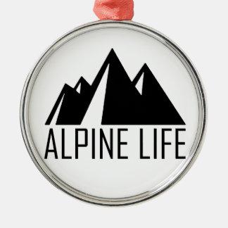 Alpine Life Silver-Colored Round Ornament