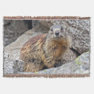 Alpine Marmot Throw Blanket