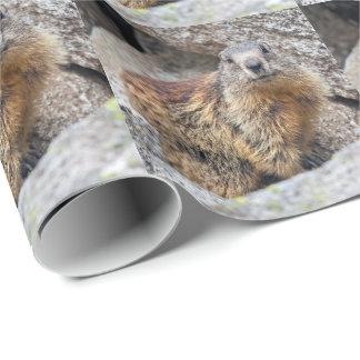 Alpine Marmot Wrapping Paper