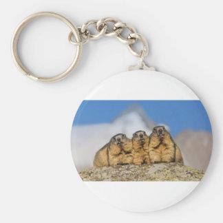 Alpine Marmots Keychain