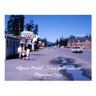 Alpine Motel West Yellowstone Postcard
