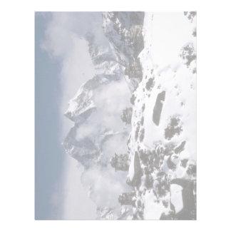 Alpine mountains, Nepal Winter Letterhead