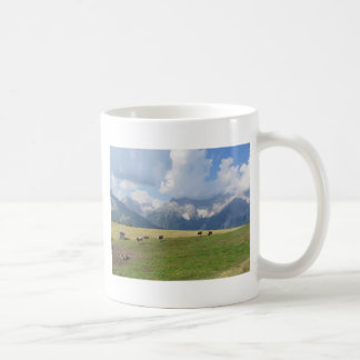 Alpine pasture coffee mug