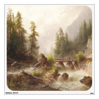 Alpine River Bridge Mountains Alps Wall Decal