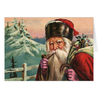 Alpine Santa Note Card