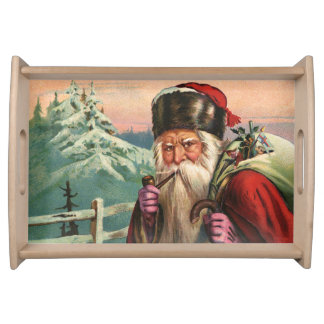 Alpine Santa Serving Tray