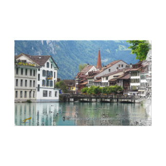 Alpine Scene Canvas Print