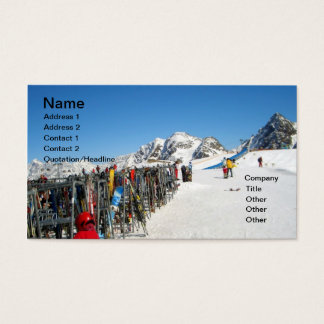 Alpine Ski Resort, Alps Austria Business Card