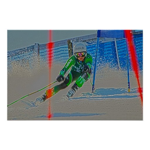 Alpine Skiing Poster D1362-103