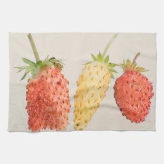Alpine Strawberry Trio Hand Towel