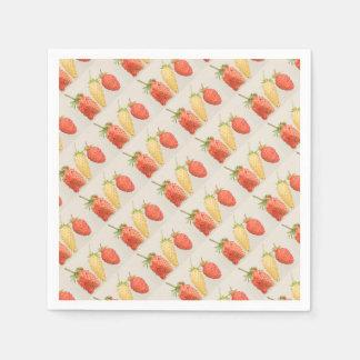 Alpine Strawberry Trio Paper Napkin